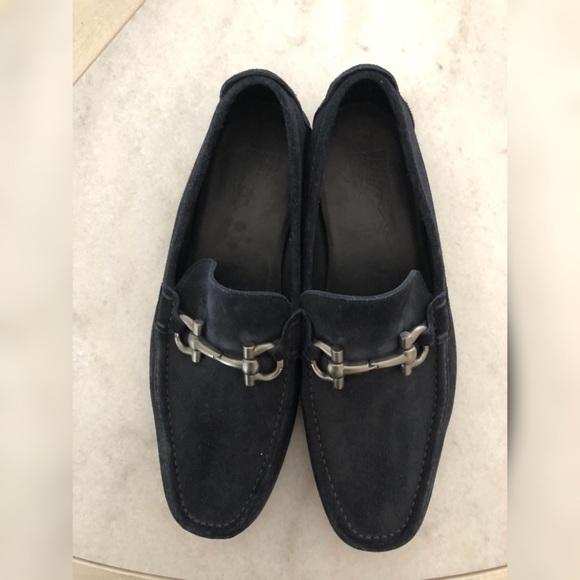 9a59ca79ad847 Salvatore Ferragamo Shoes | Blue Suede Loafers | Poshmark